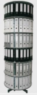 Drehsäule für Ordner RFF 81 cm 6 Etagen einzeln drehbar grau