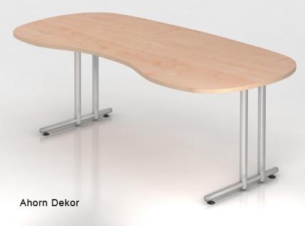 Chefschreibtisch Hammerbacher N-Serie 200 x 100 cm Ahorn Dekor