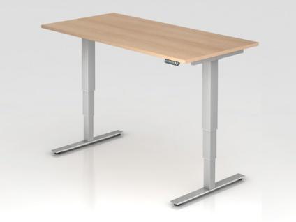 Schreibtisch Hammerbacher XD-Serie Elektro 160 x 80 cm Eiche Dekor