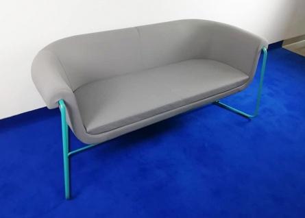 Loungesofa Profi M Hower 2, 5-Sitzer grau türkis grün Top Vor-Ort-Artikel