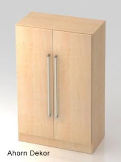 Büroschrank Hammerbacher Solid OS 3 OH Türen 80 x 42 x 127 cm Ahorn Dekor