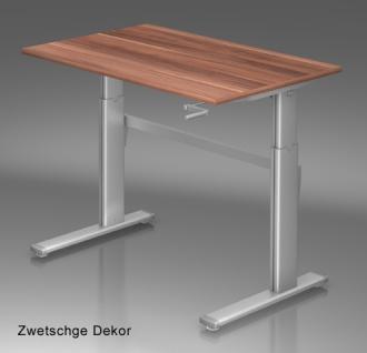 Schreibtisch Hammerbacher XK-Serie 120 x 80 cm Zwetschge Dekor