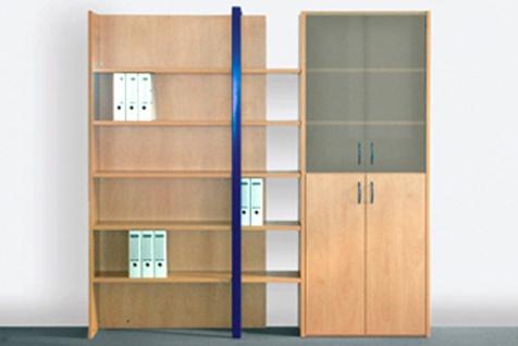 Büro Schrankwand Pendo Multi 269 x 44 x H 221 cm 6 OH Auswahl Farbe Optionen