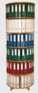 Drehsäule für Ordner RFF 100 cm 6 Etagen gesamt drehbar Buche