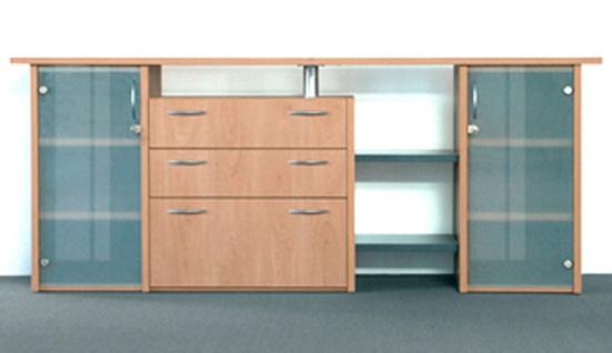 Büro Sideboard Kombination Pendo Multi Design 225 x 115 x 46 cm 3 OH Schubladen Auswahl Farbe Optionen