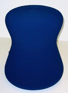 Polsterhocker Sitzkegel Löffler Fan Go 1 Stoff blau