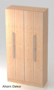 Falttürenschrank Hammerbacher Solid 5OH Türen 100 x 42 x 201 cm Ahorn Dekor