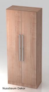 Garderobenschrank Hammerbacher Solid 5OH Türen 80 x 42 x 201 cm Nussbaum Dekor