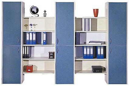 Büro Schrankwand Pendo Multi 297 x 44 x H 221 cm 6 OH 1 Auswahl Farbe Optionen