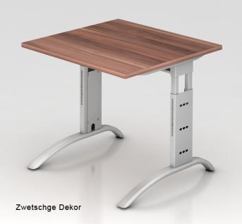 Schreibtisch Hammerbacher F-Serie 80 x 80 cm Zwetschge Dekor