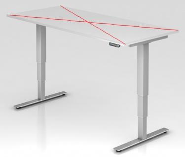 Tischgestell elektrisch höhenverstellbar Hammerbacher Xanten Aktiv 112 cm Alu Silber