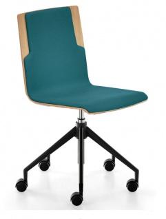 Lounge Bürostuhl Sedus Stoll Meet Chair Furnier Sitz Rücken gepolstert Auswahl Farbe Optionen