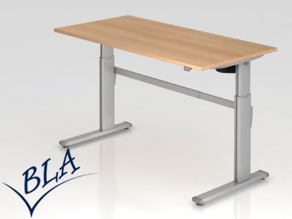 Schreibtisch elektrisch höhenverstellbar Hammerbacher Maxi 160 x 80 cm Auswahl Farbe Optionen
