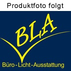 Büro Sideboard Hammerbacher Basic 2 OH 166 x 45 x 84 cm SL silber Nussbaum Dekor