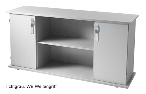 Büro Sideboard Hammerbacher Basic 2 OH 166 x 45 x 84 cm officegrau