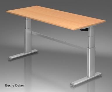 Schreibtisch Hammerbacher XM-Serie Elektromal 200 x 100 cm Buche Dekor