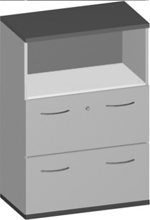 Hängeregistraturschrank Pendo Vari Edo 2 zu 3 OH 80 x 115 x 44 cm Auswahl