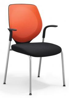 Vierfuss Konferenzstuhl Giroflex 3530 Netz MA Auswahl Farbe Optionen