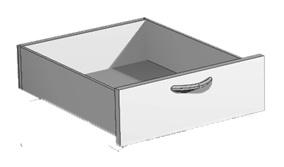 Schublade für 60 cm breite Pendo Vari Edo Regale Auswahl Farbe Optionen
