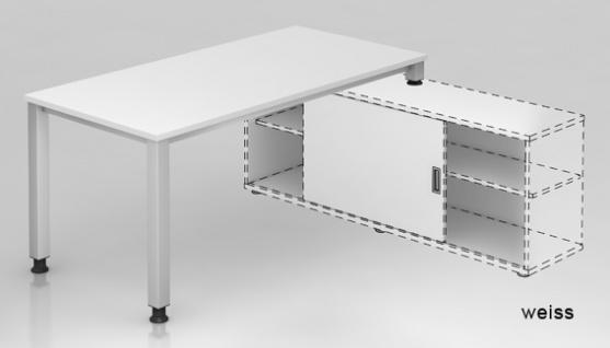 Schreibtisch Auflieger Hammerbacher Quedlinburg 160 x 160 cm Farbauswahl