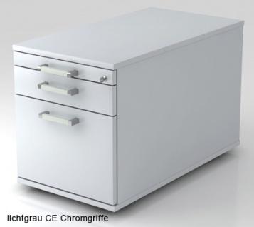 Schreibtischcontainer Hammerbacher Solid 1HR Tiefe 80 cm officegrau