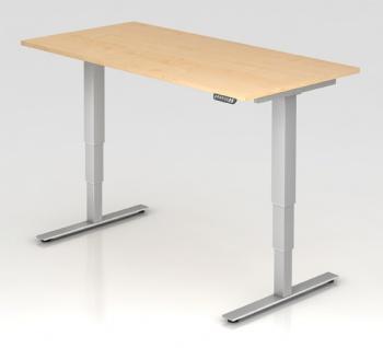 Schreibtisch Hammerbacher XD-Serie Elektro 160 x 80 cm Ahorn Dekor