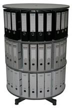 Drehsäule für Ordner RFF 81 cm 3 Etagen gesamt drehbar grau