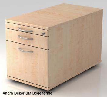 Schreibtischcontainer Hammerbacher Solid 1HR Tiefe 80 cm Ahorn Dekor