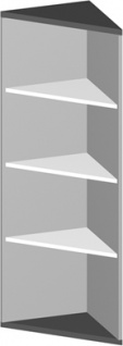 Eck Büroregal Pendo Vari Edo 4 OH 44 x 154 cm gerade Auswahl Farbe Optionen