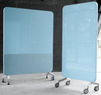 Stellwand Lintex Klar Farbig Mobil 150 x 196 cm Auswahl Farbe Optionen