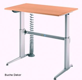 Schreibtisch Hammerbacher XE Elektro 120 x 80 cm Buche Dekor