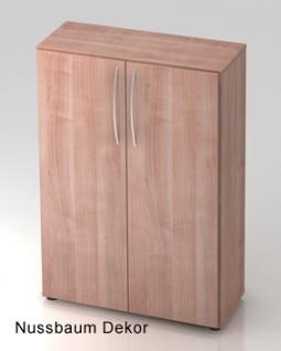 Büroschrank Hammerbacher Basic 3 OH Türen 80 x 33 x 115 cm Nussbaum Dekor