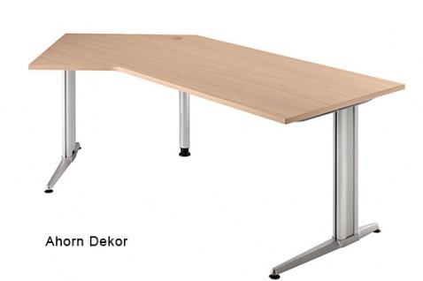 J-Schreibtisch Hammerbacher XS-Serie 210 x 113 cm Ahorn Dekor