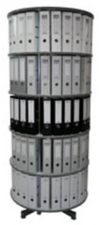 Drehsäule für Ordner RFF 81 cm 5 Etagen gesamt drehbar grau