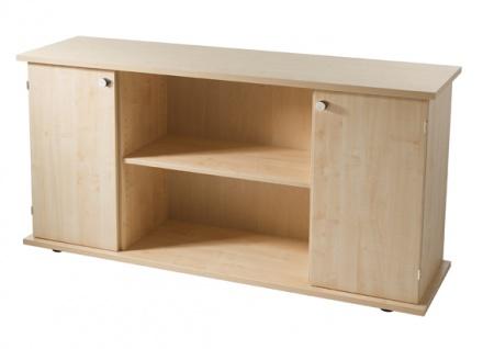 Büro Sideboard Hammerbacher Basic 2 OH 166 x 45 x 84 cm Ahorn Dekor