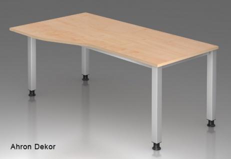 Schreibtisch Hammerbacher Q-Serie 180 x 100-80 cm Ahorn Dekor