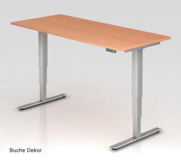 Schreibtisch Hammerbacher XD-Serie Elektro 180 x 80 cm Buche Dekor
