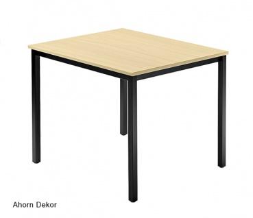 Konferenztisch Hammerbacher Villingen Classic 1 Quadrat 80 x 80 cm Farbauswahl