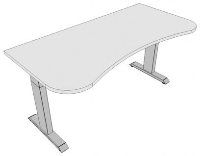 Schreibtisch Pendo Ergo Polar Top 160 x 80 cm Auswahl Farbe Optionen