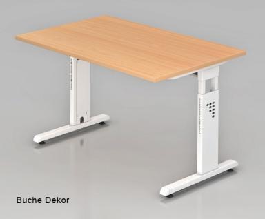 Schreibtisch Hammerbacher O-Serie 120 x 80 cm Buche Dekor