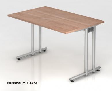 Schreibtisch Hammerbacher N-Serie 120 x 80 cm Nussbaum Dekor