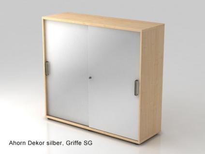 Schiebetürenschrank Hammerbacher Basic 3 OH 120 x 40 x 110 cm Ahorn Dekor silber