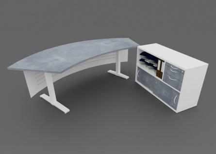 Chefschreibtisch Kombination Pendo Wing elektrisch ESCC Auswahl Farbe Optionen