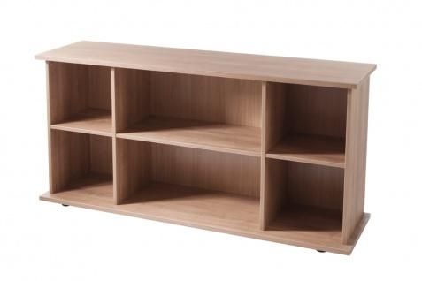 Büro Sideboard Hammerbacher Büroregal Basic 2 OH 166 x 45 x 84 cm Nussbaum Dekor