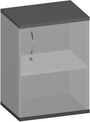 Büro Sideboard 1-türig Pendo Vari Edo 2 OH 60 x 80 x 44 cm Auswahl Farbe Optionen
