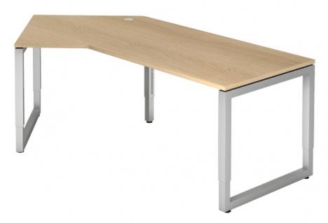 J-Schreibtisch Hammerbacher R-Serie 210 x 113 cm Eiche Dekor