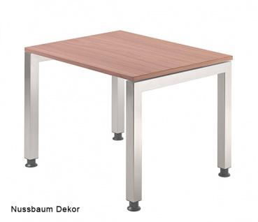 Schreibtisch Hammerbacher J-Serie 80 x 80 cm Nussbaum Dekor
