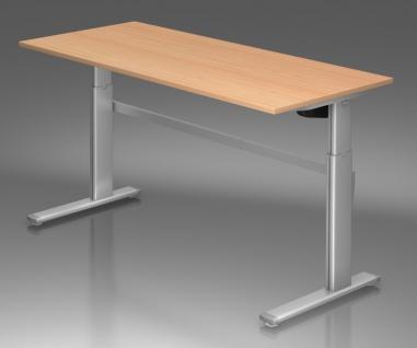 Schreibtisch Hammerbacher XM-Serie Elektro 200 x 100 cm Buche Dekor