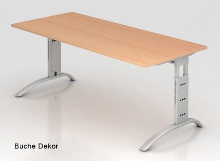Schreibtisch Hammerbacher F-Serie 180 x 80 cm Buche Dekor