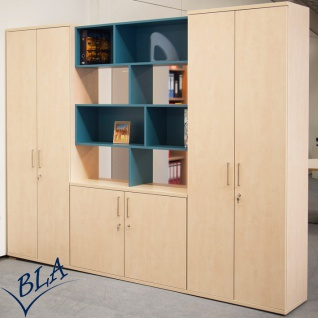Büro Schrankwand Pendo Vari Edo 280 x 224 x 44 cm 6 OH Auswahl Farbe Optionen